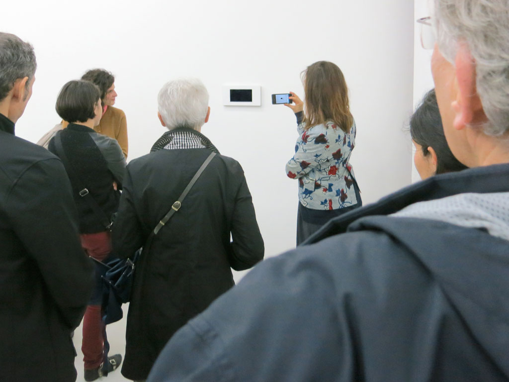 Claude Closky, 'Lunch', 2012, 7 inch pad, program, stereo sound, unlimited duration. Exhibition view detail of 'Animations', Le Quartier, Centre d'art contemporain, Quimper, 2012. Curated by Keren Detton